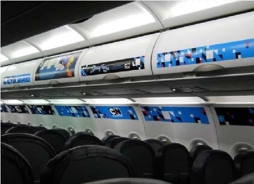 Decorative film for aircraft