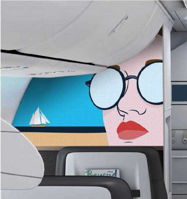 decorative films for aircraft cabins