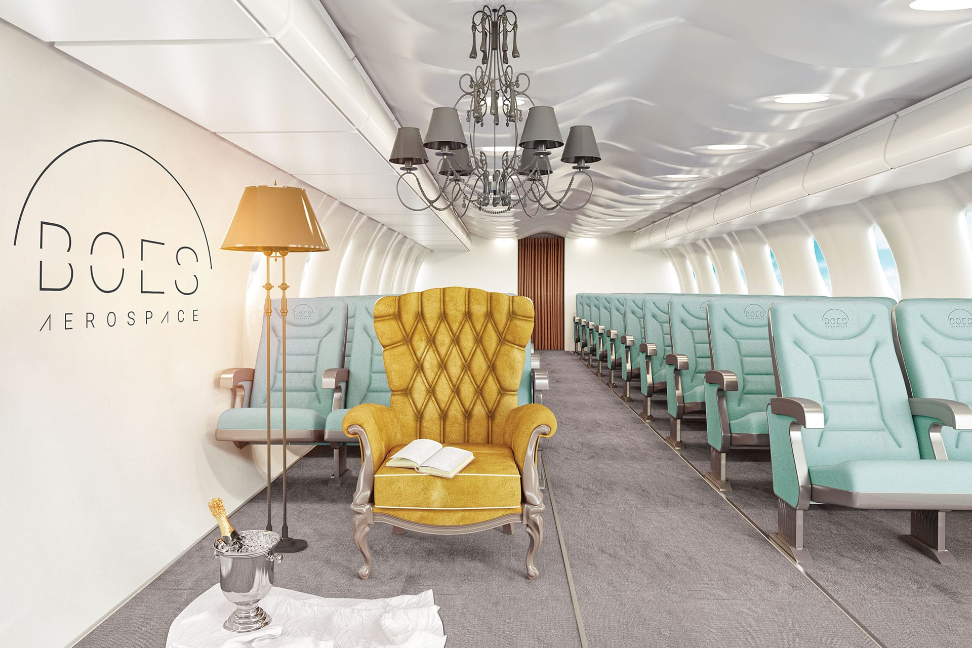innovative cabin interior design | BOES Aerospace | Innovative cabin completion for airlines